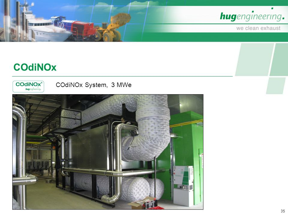 COdiNOx COdiNOx System, 3 MWe