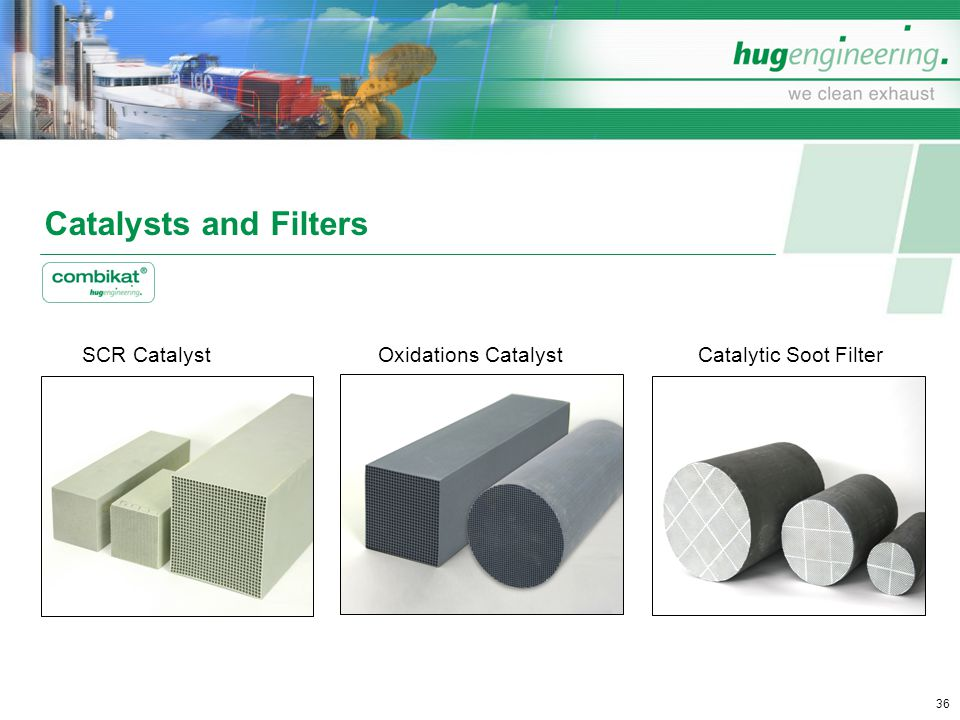 Catalysts and Filters SCR Catalyst Oxidations Catalyst