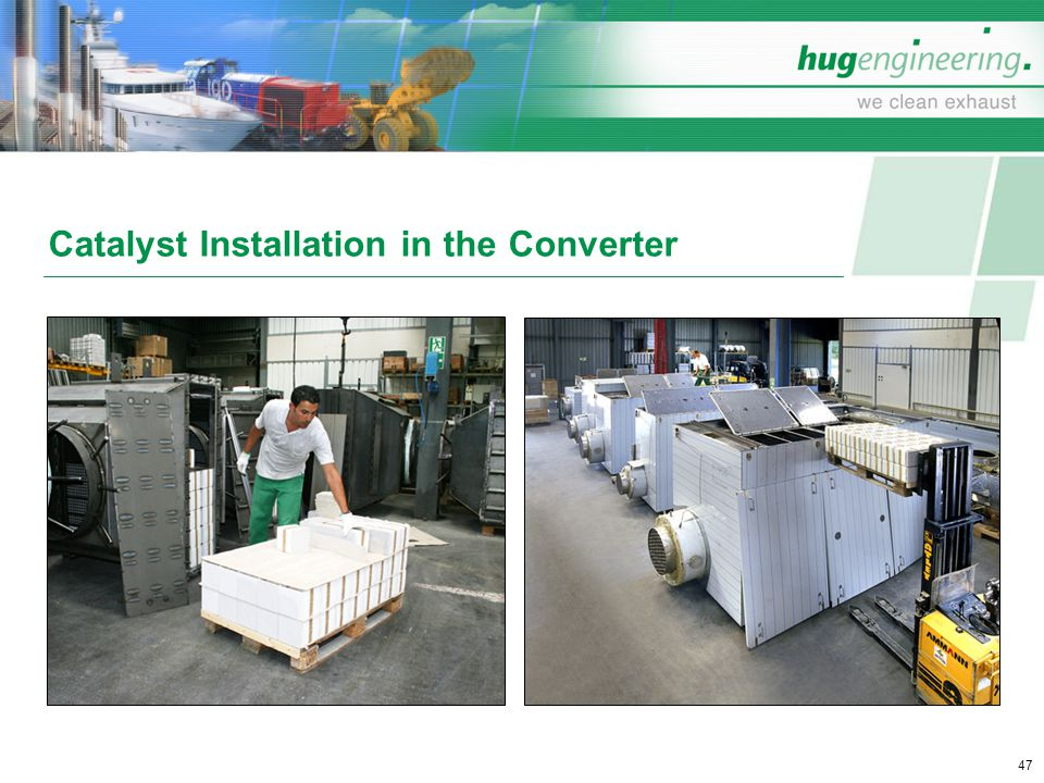 Catalyst Installation in the Converter
