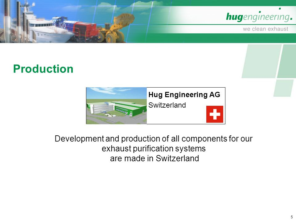 Production Development and production of all components for our
