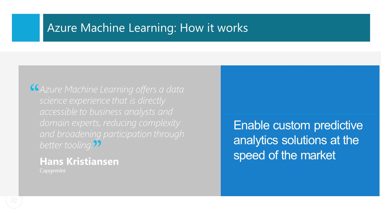 Azure Machine Learning: How it works