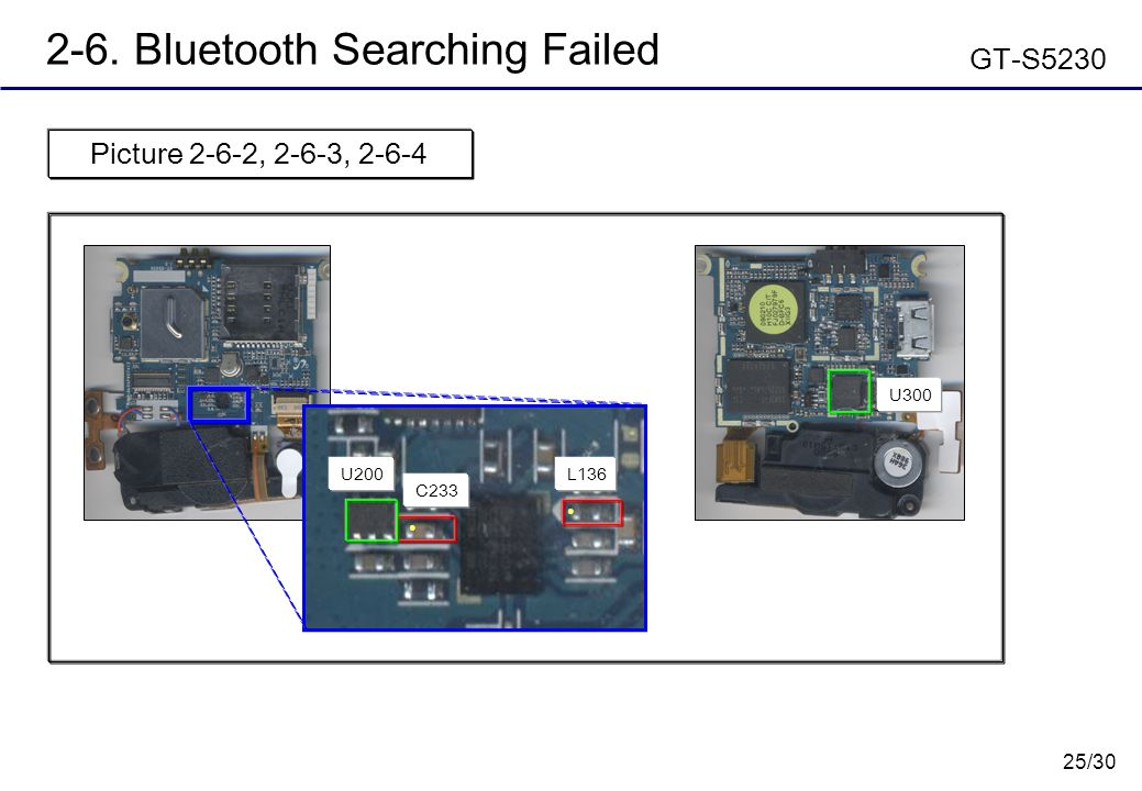 2-6. Bluetooth Searching Failed GT-S5230