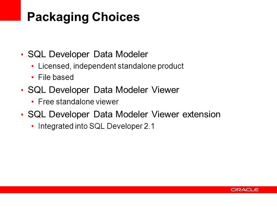 Packaging Choices SQL Developer Data Modeler