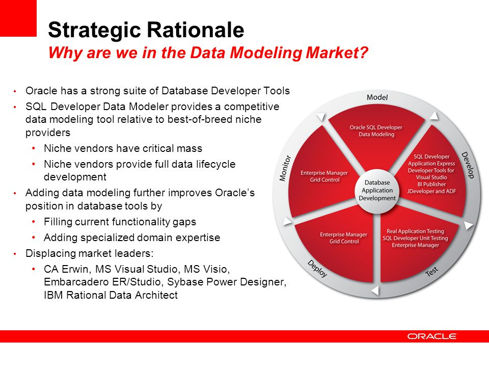 Strategic Rationale Why are we in the Data Modeling Market