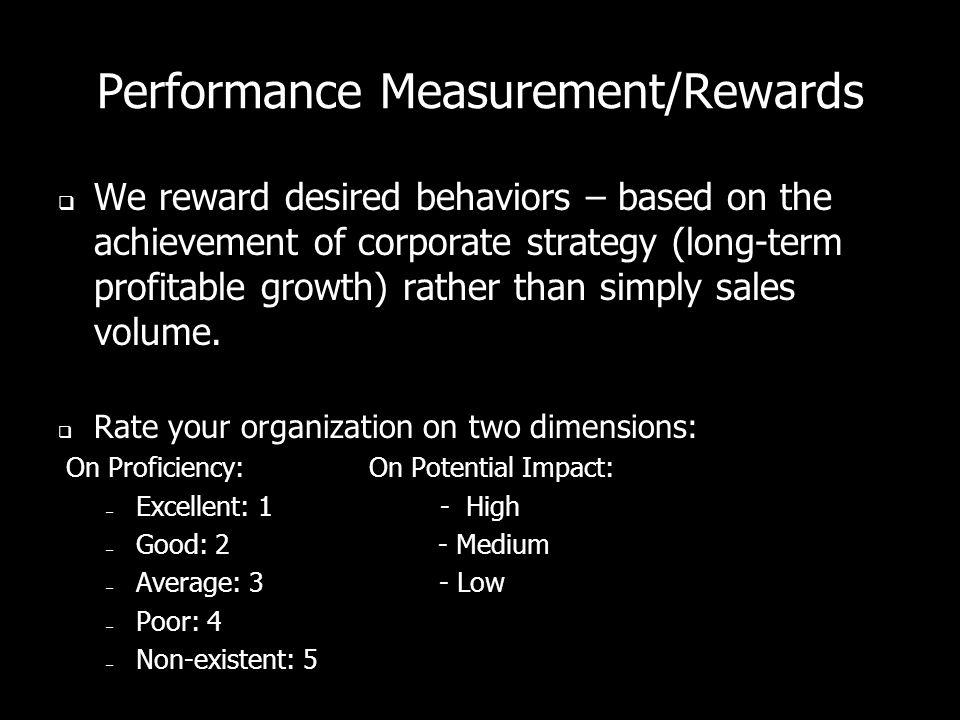 Performance Measurement/Rewards