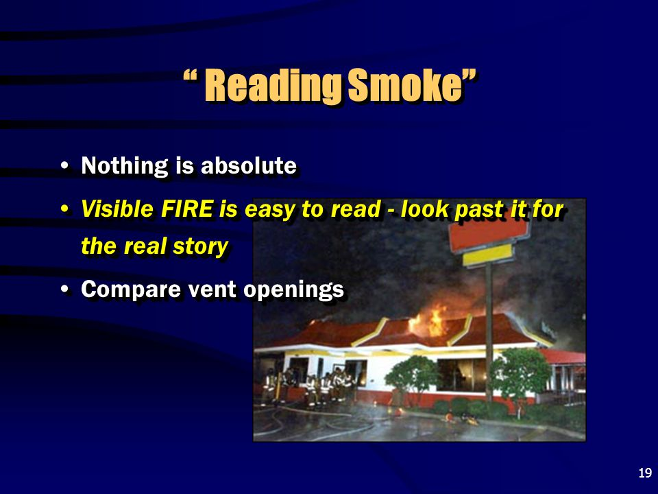 Reading Smoke Nothing is absolute