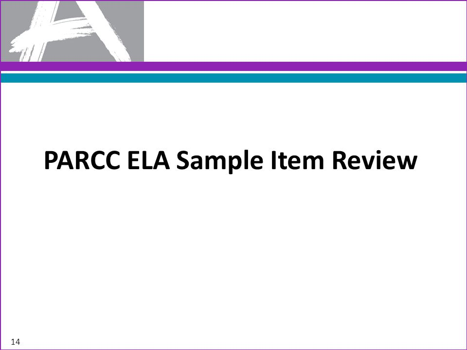 PARCC ELA Sample Item Review