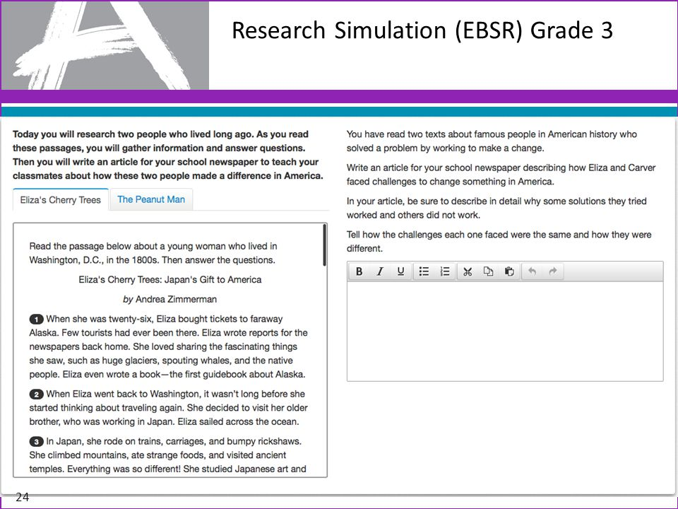 Research Simulation (EBSR) Grade 3