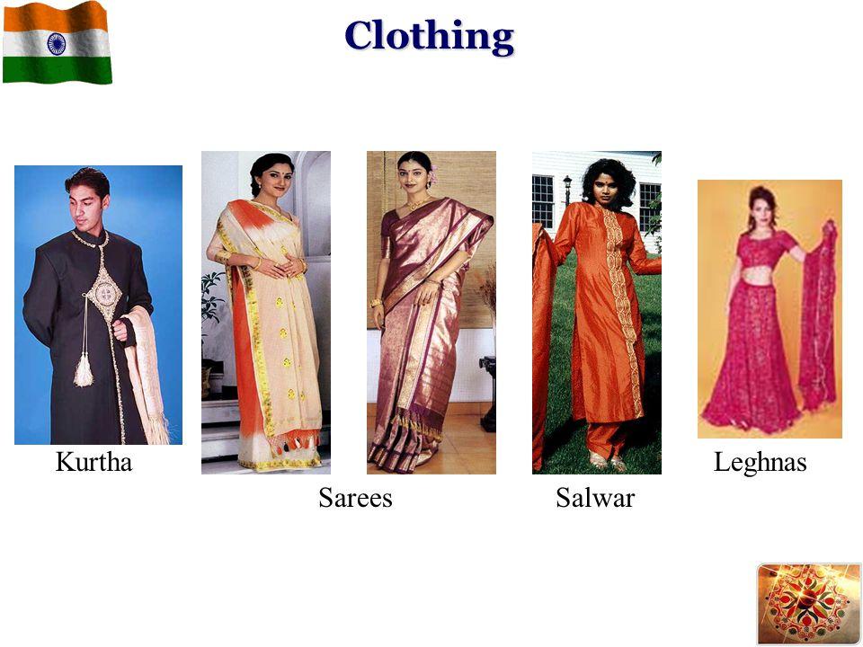 Clothing Kurtha Leghnas Sarees Salwar