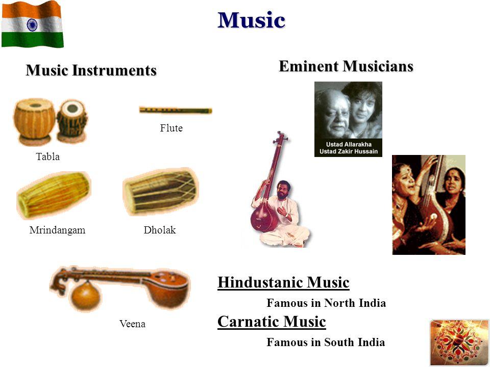 Music Eminent Musicians Music Instruments Hindustanic Music