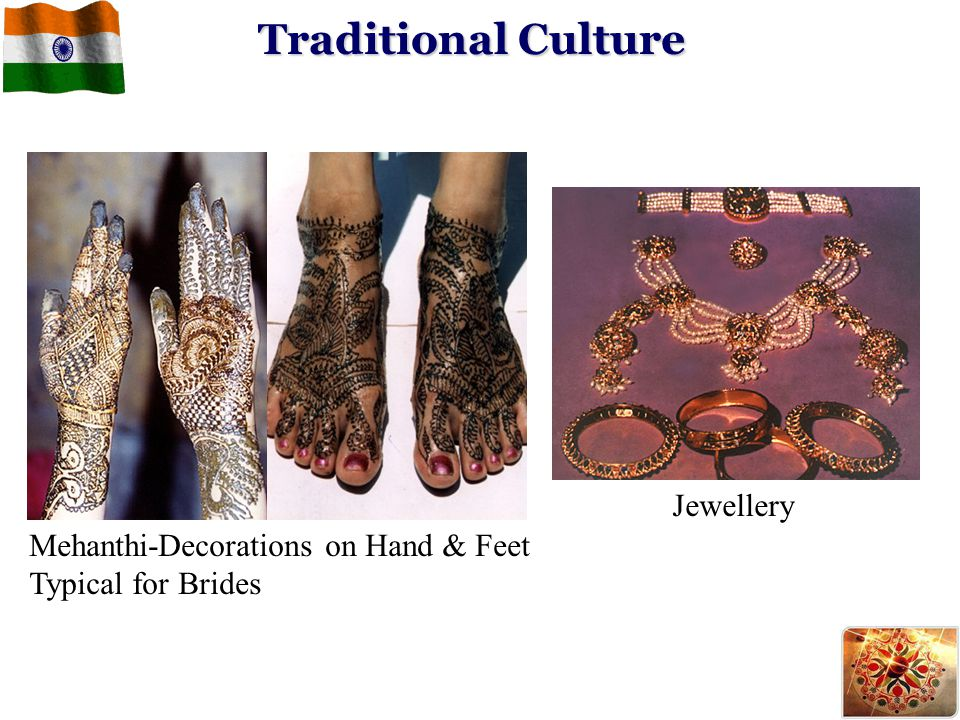 Traditional Culture Jewellery Mehanthi-Decorations on Hand & Feet