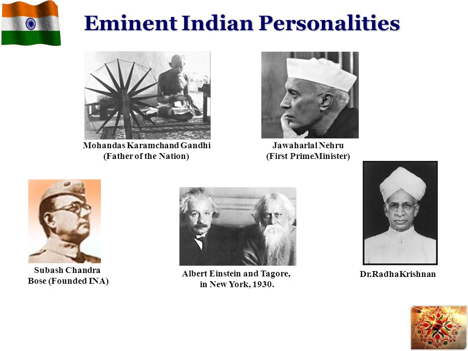 Eminent Indian Personalities