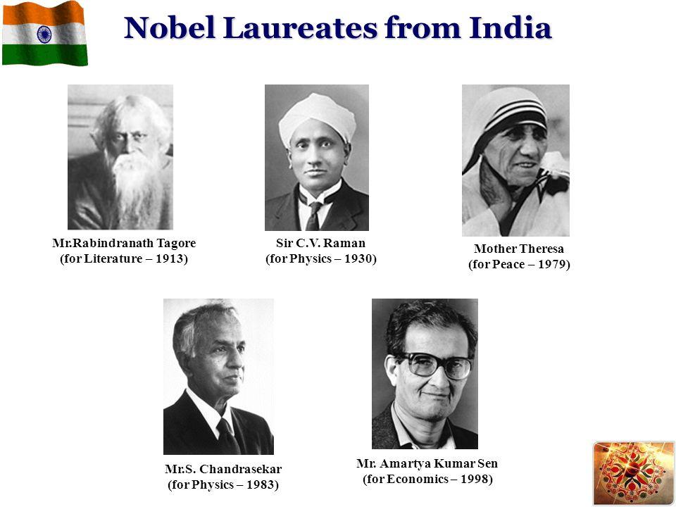 Nobel Laureates from India