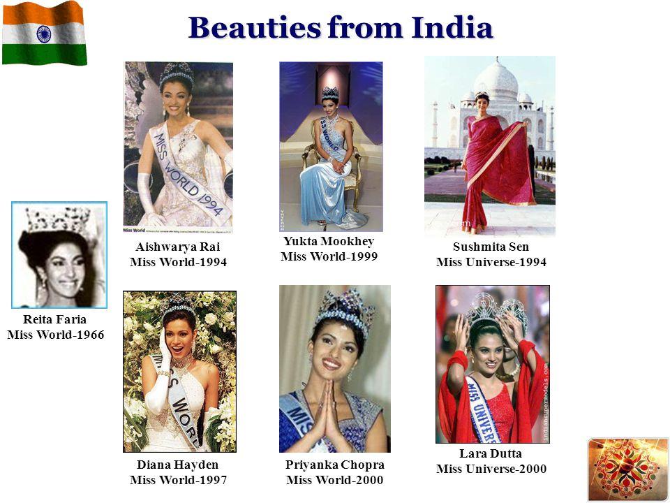 Beauties from India Yukta Mookhey Miss World-1999 Aishwarya Rai