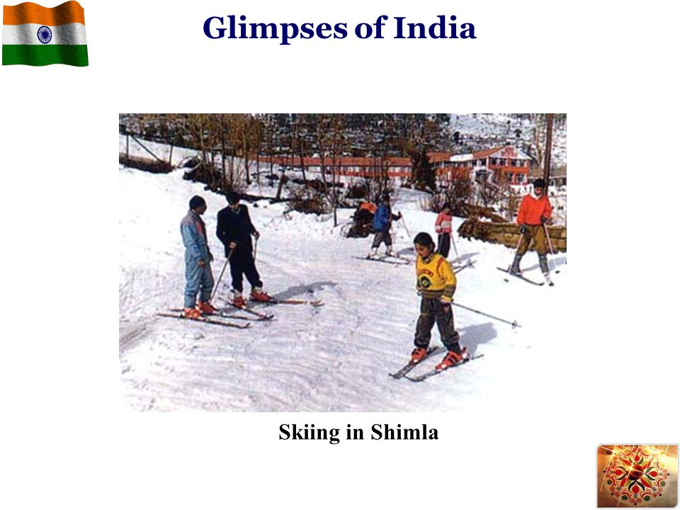 Glimpses of India Skiing in Shimla