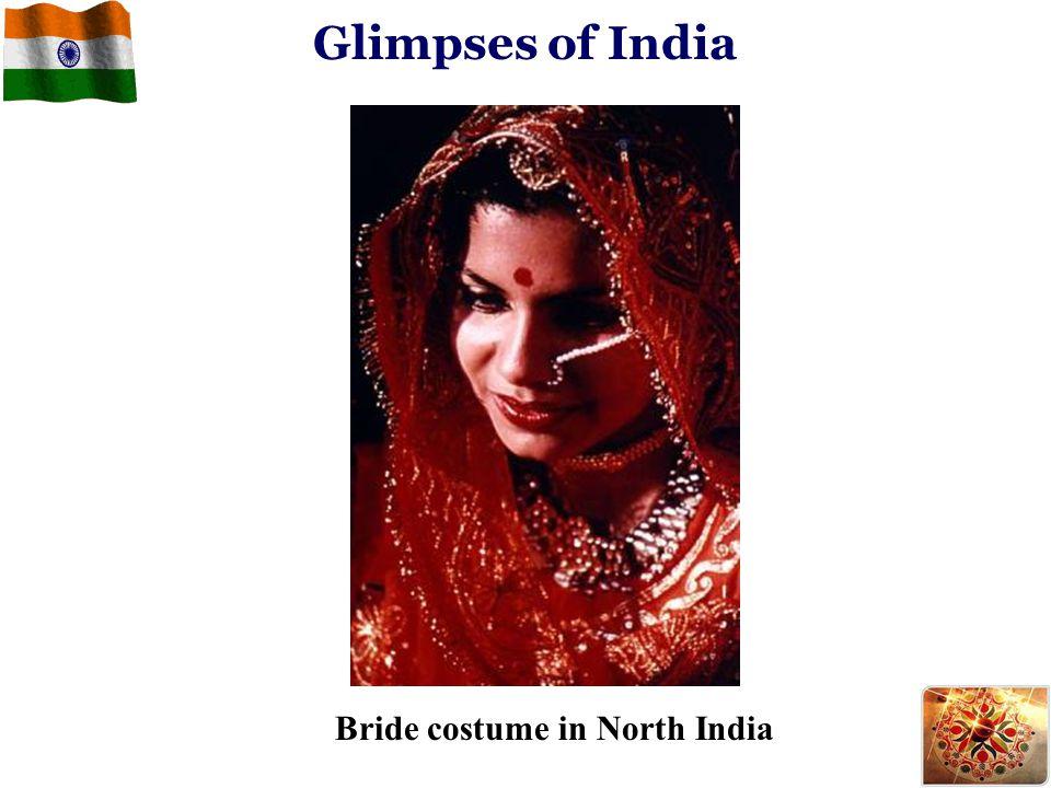 Glimpses of India Bride costume in North India