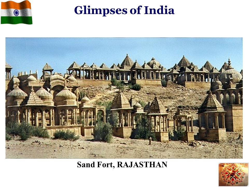 Glimpses of India Sand Fort, RAJASTHAN