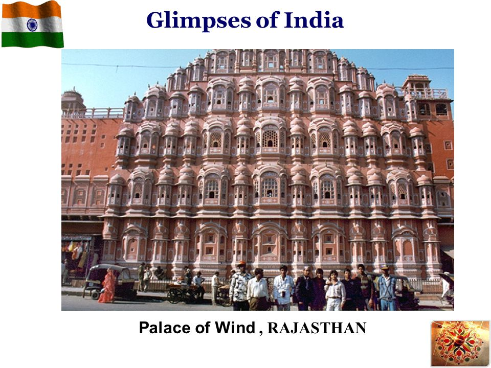Glimpses of India Palace of Wind , RAJASTHAN