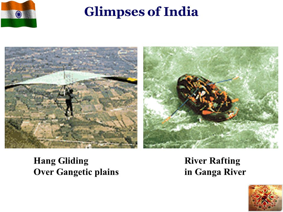 Glimpses of India Hang Gliding Over Gangetic plains River Rafting