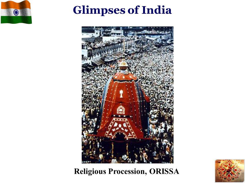 Glimpses of India Religious Procession, ORISSA