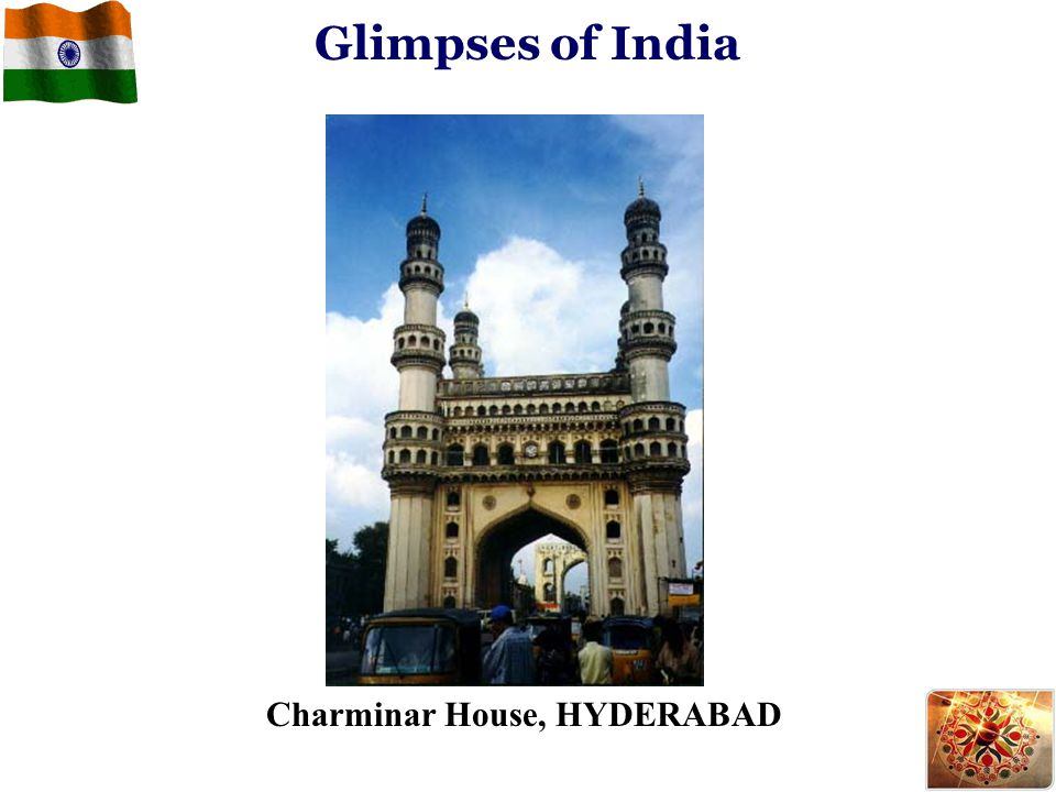 Glimpses of India Charminar House, HYDERABAD
