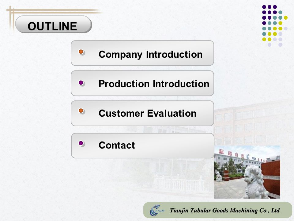 OUTLINE Company Introduction Production Introduction