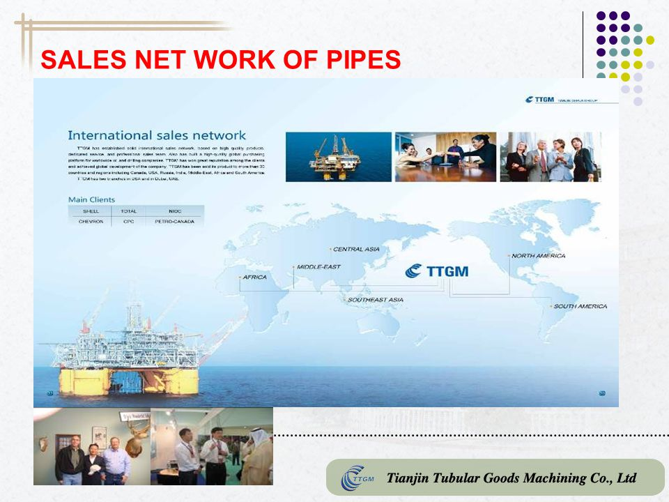 SALES NET WORK OF PIPES