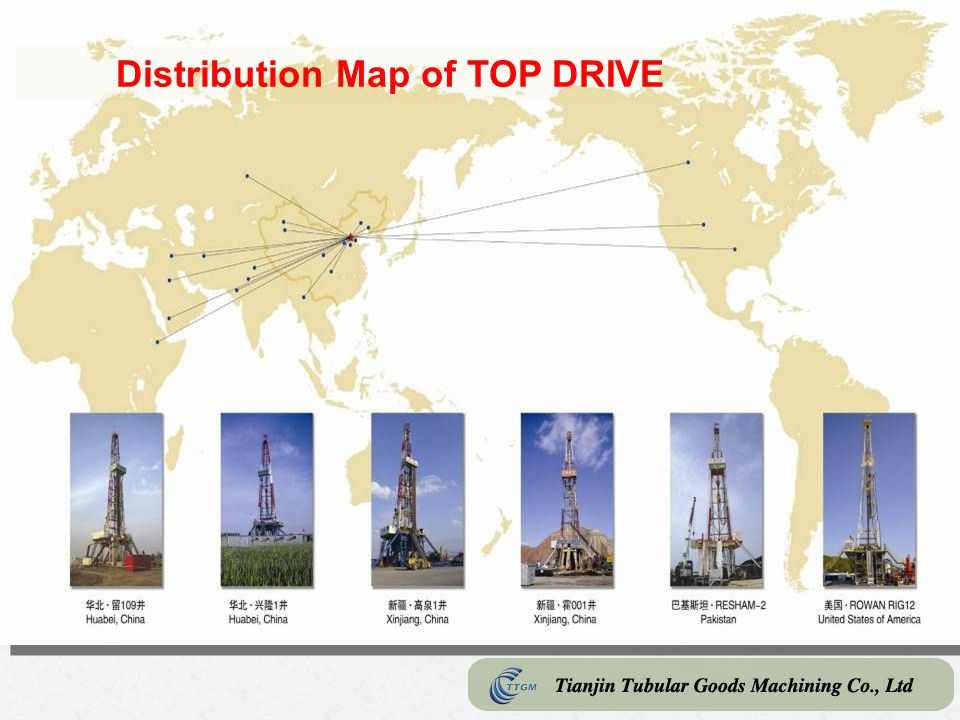 Distribution Map of TOP DRIVE