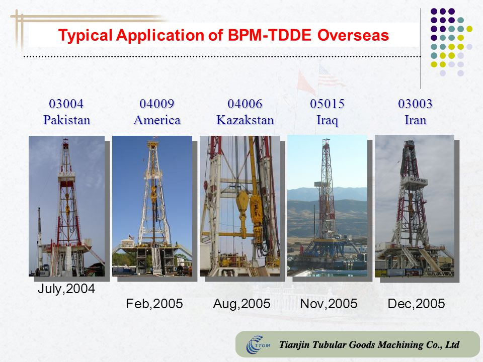 Typical Application of BPM-TDDE Overseas