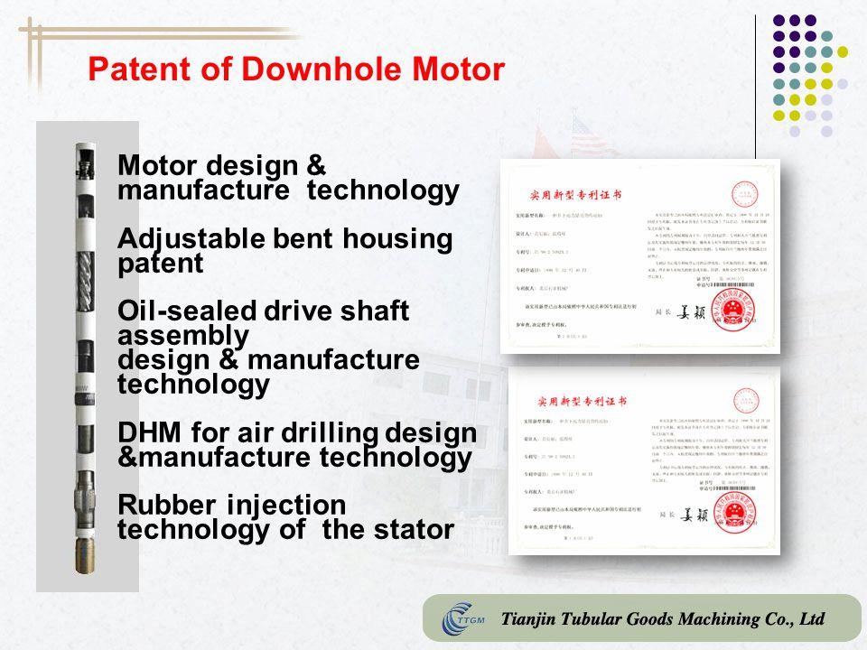 Patent of Downhole Motor
