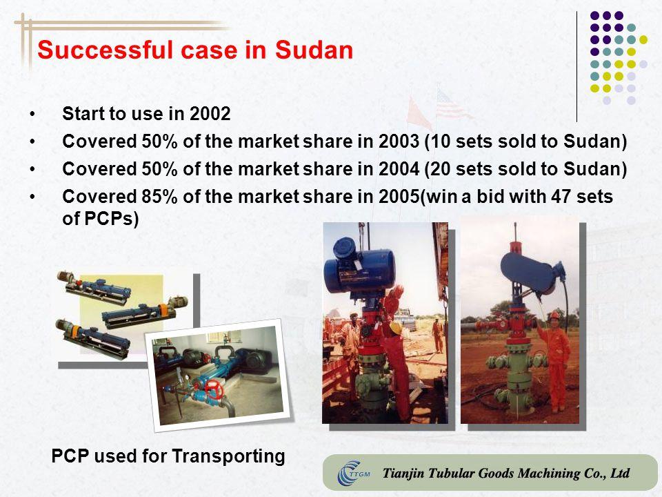 Successful case in Sudan