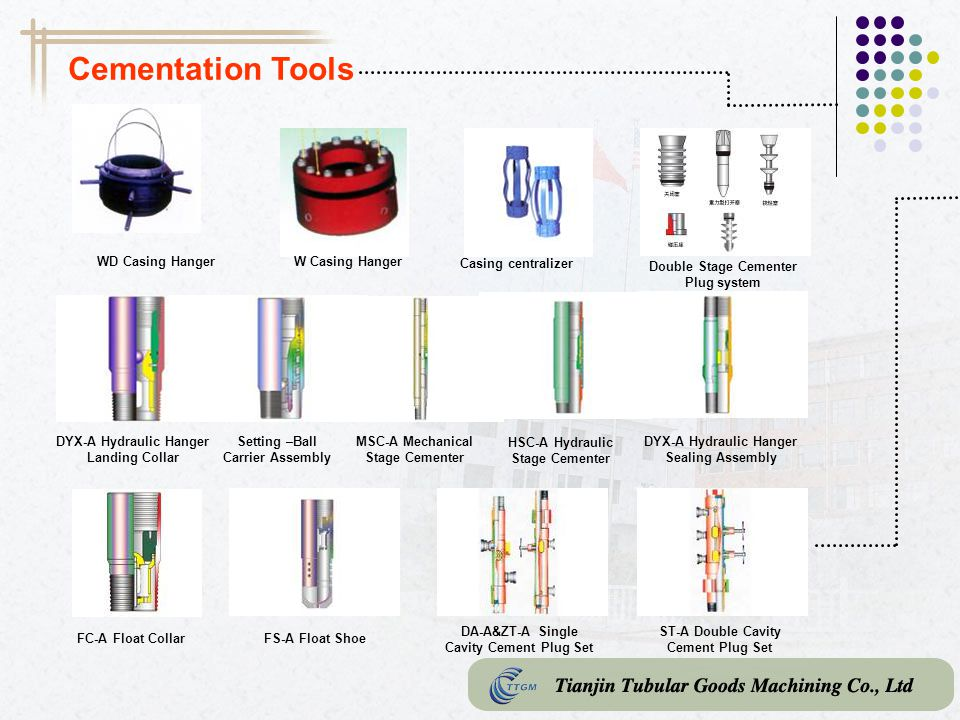 Cementation Tools WD Casing Hanger W Casing Hanger Casing centralizer