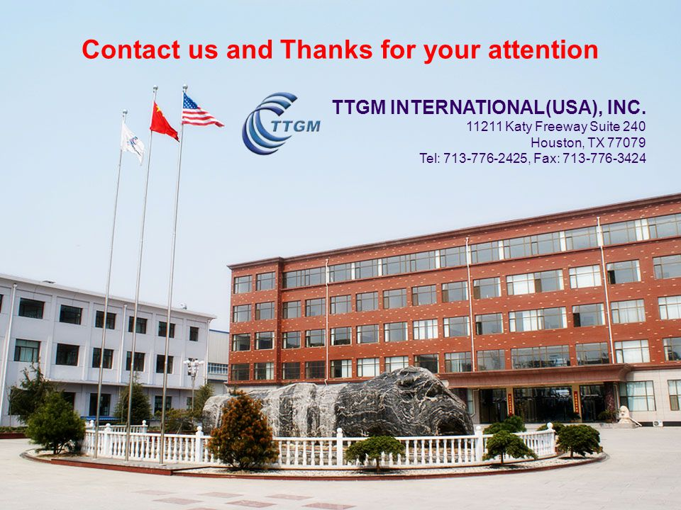 Contact us and Thanks for your attention