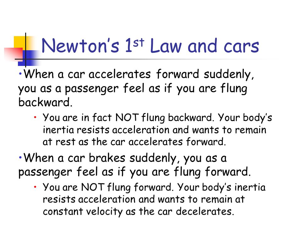 Newton's 1st Law and cars