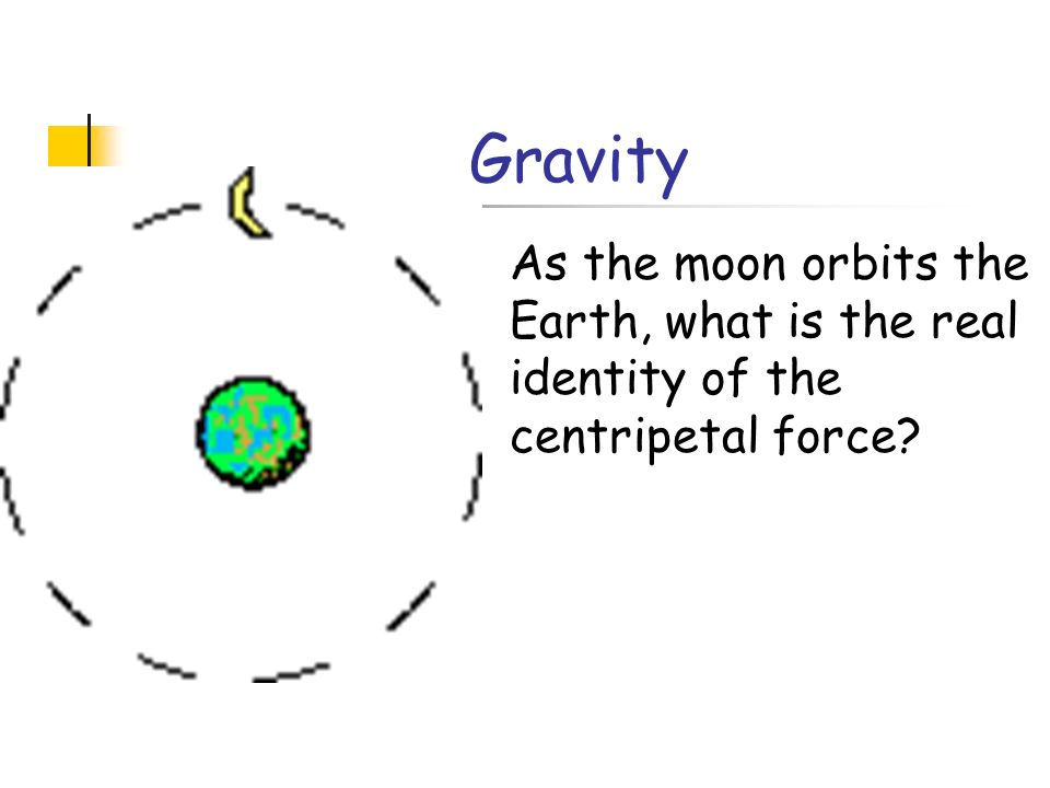 Gravity As the moon orbits the Earth, what is the real identity of the centripetal force