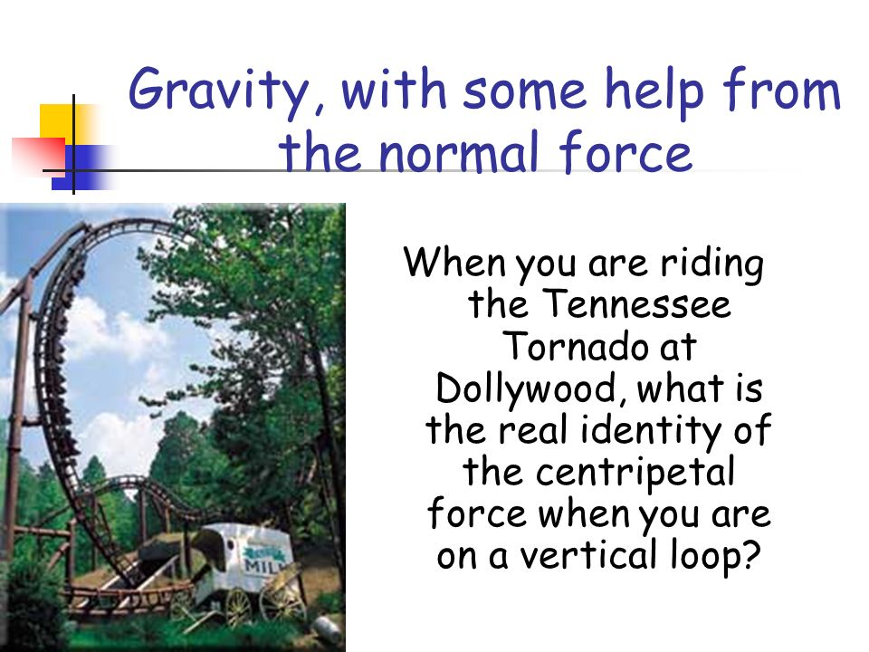 Gravity, with some help from the normal force