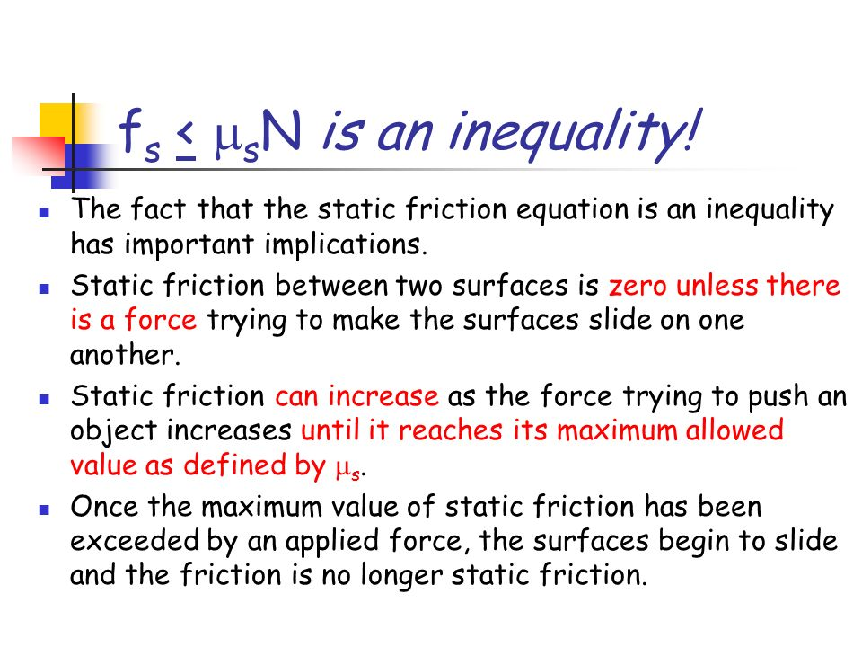 fs < msN is an inequality!