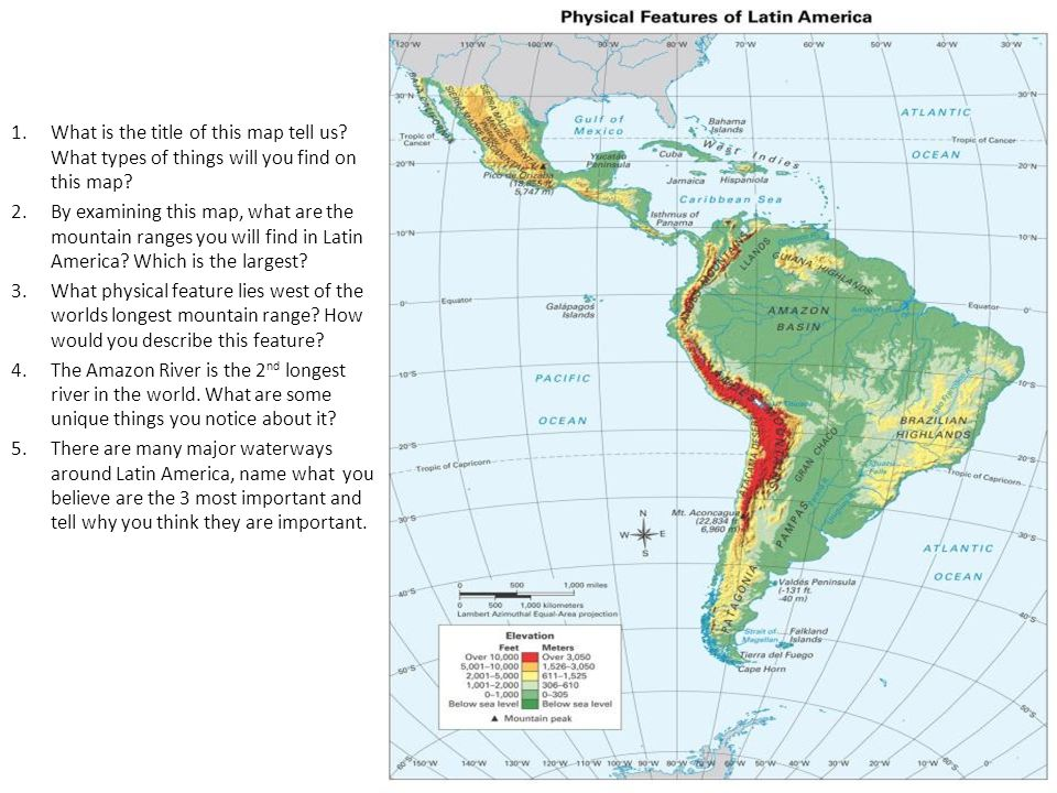 Latin America Geography ppt download