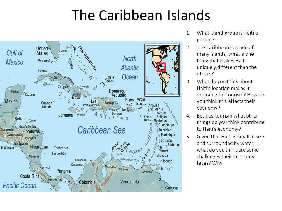 The Caribbean Islands What island group is Haiti a part of