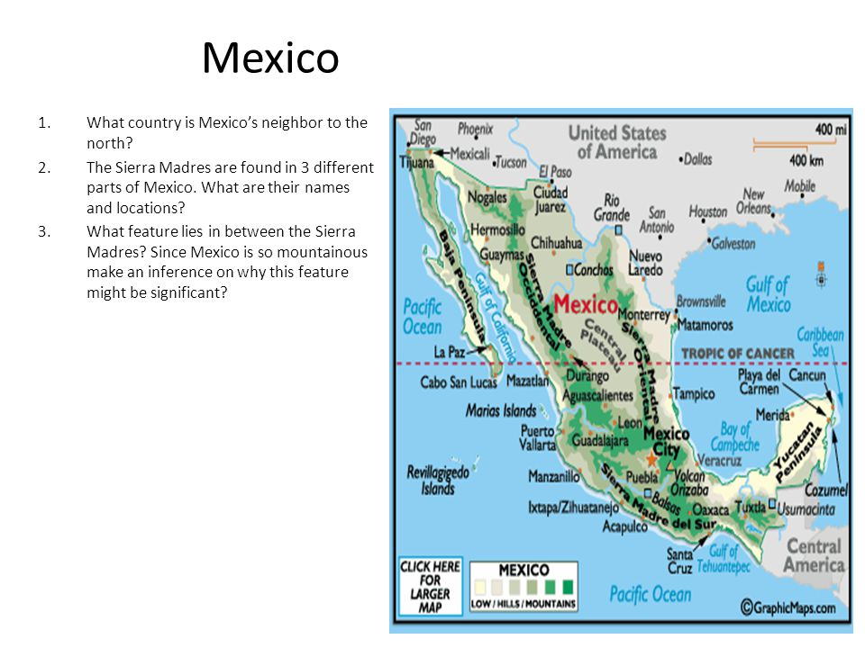 Mexico What country is Mexico's neighbor to the north