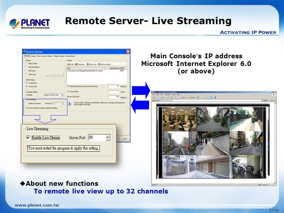 Remote Server- Live Streaming