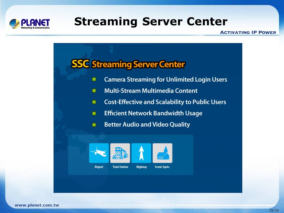 Streaming Server Center