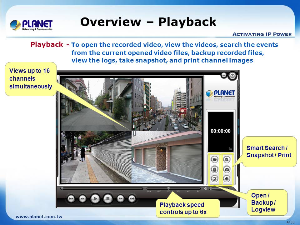 Overview – Playback