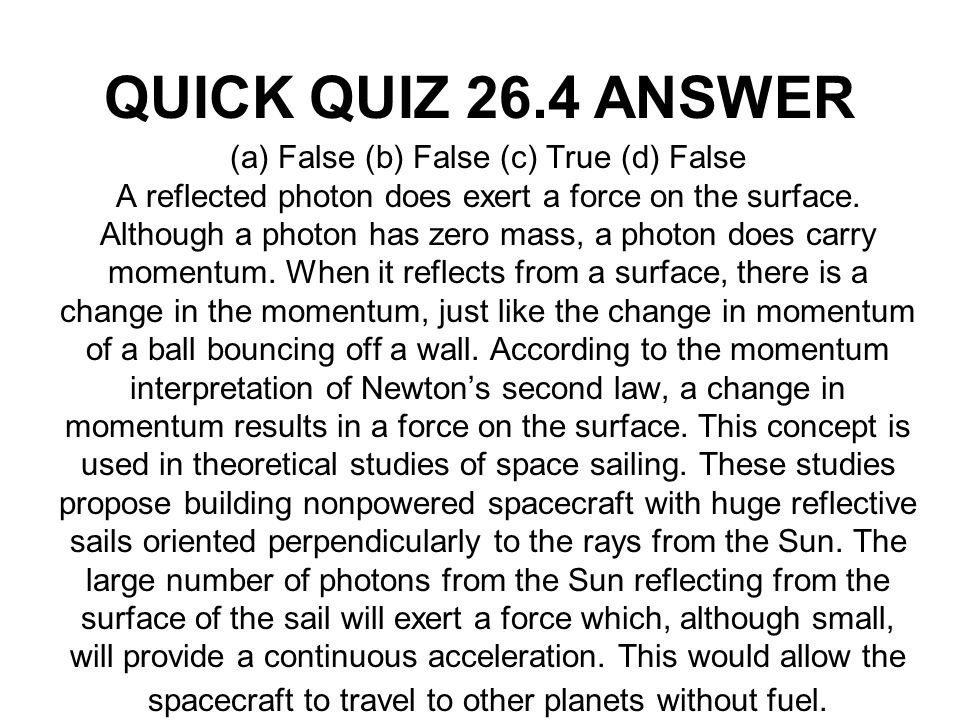 QUICK QUIZ 26.4 ANSWER