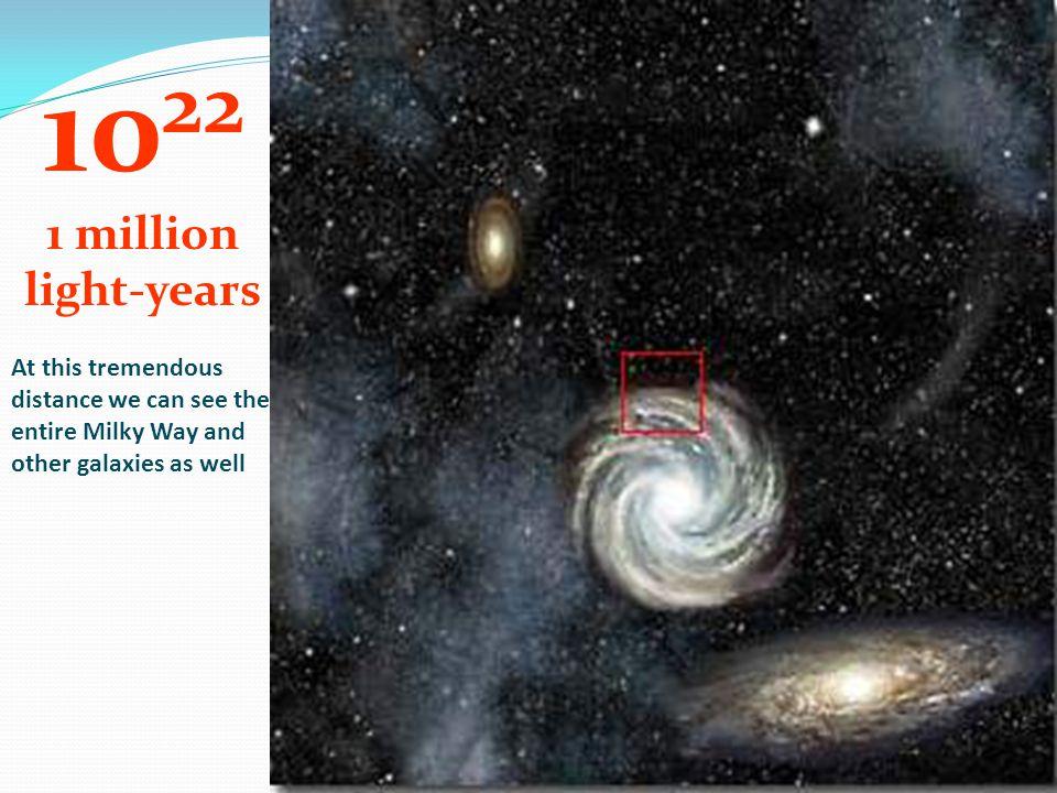 1022 1 million. light-years.