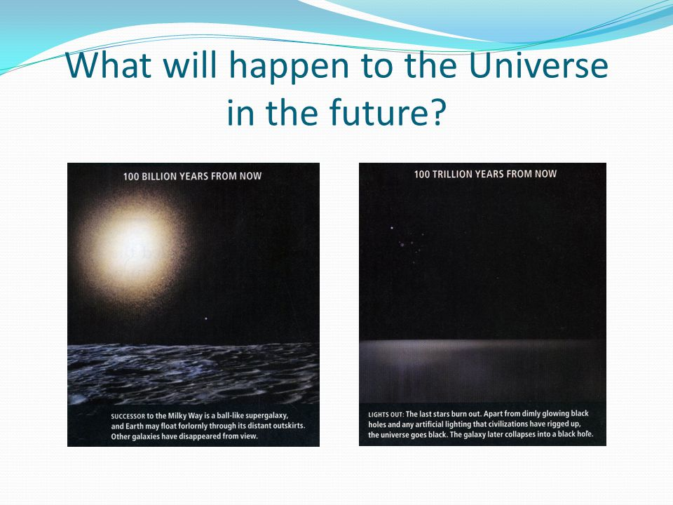 What will happen to the Universe in the future