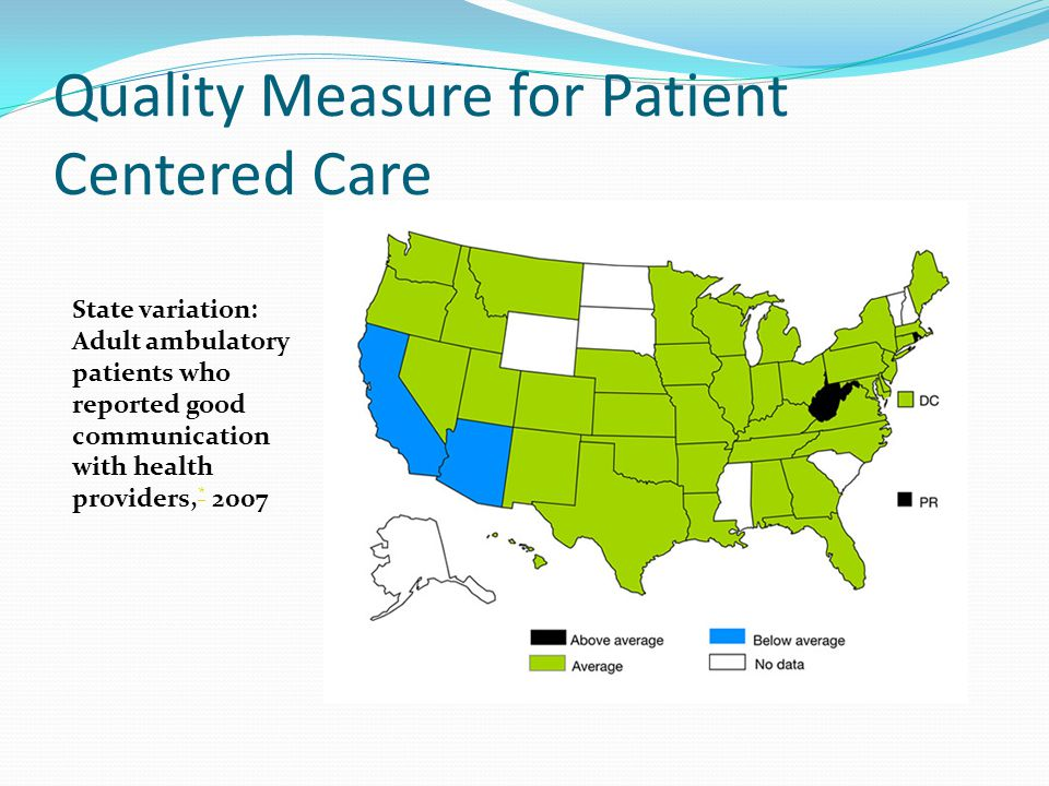 Quality Measure for Patient Centered Care