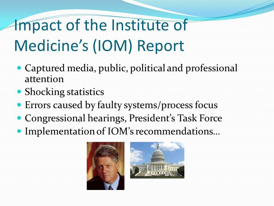 Impact of the Institute of Medicine's (IOM) Report