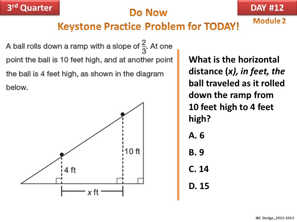 What is the horizontal distance (x), in feet, the