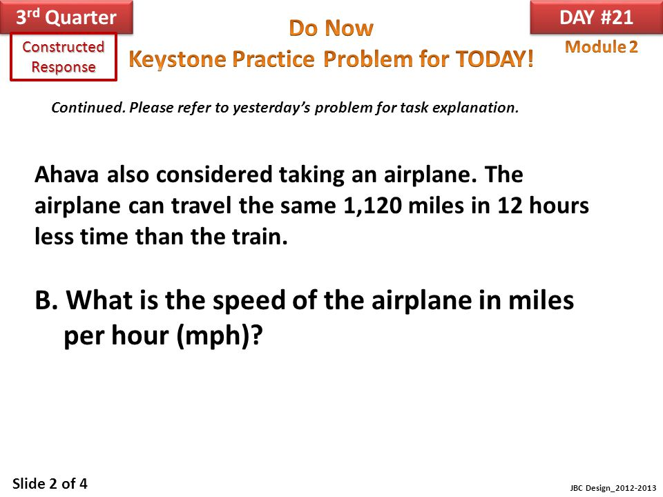 B. What is the speed of the airplane in miles per hour (mph)